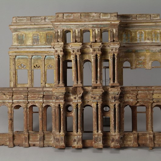 Exceptional wooden model of an Indian temple