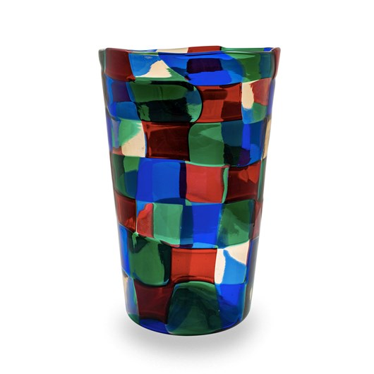 """Glass vase Pezzato mod. """"Parigi"""" ca. 1951"""