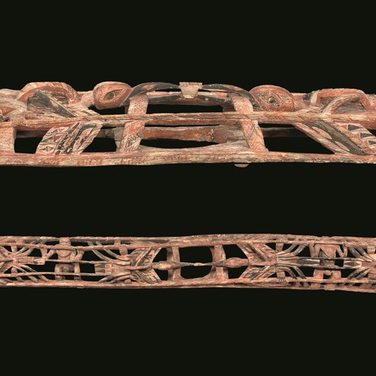 Large Malagan frieze, or kobo-kobor, from an initiation house.
