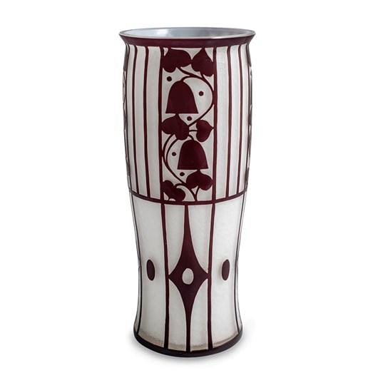 """Loetz Vase """"Opal außen Ruby"""", Werkbund 1914"""