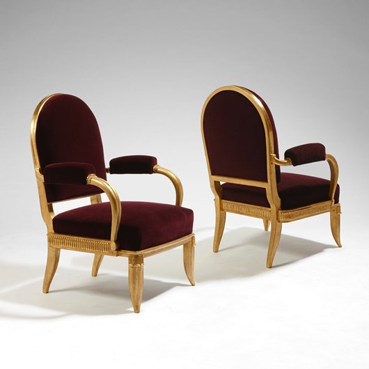 Pair of formal armchairs for Mr. Louis Nicolle