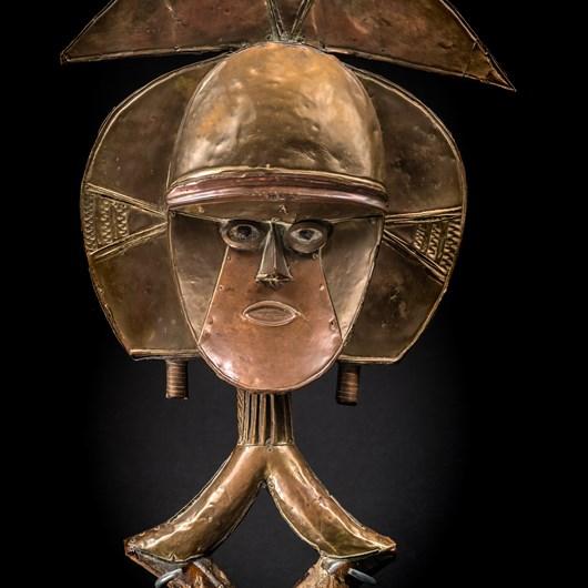 Reliquary guardian figure Kota, Gabon