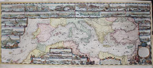 Carte Nouvelle de la Mer Mediterranee ou sont Exactement Remarques Tous les Ports, Golfes, Rochers, Bancs de Sable &c.