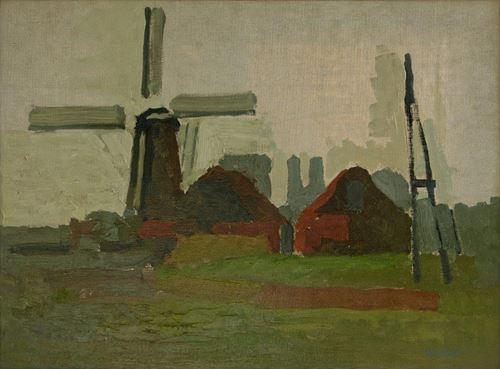 Moulin à vent à Schoondijke (Pays-Bas)