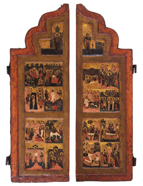 Twee zijluiken met kerkelijke feestdagen