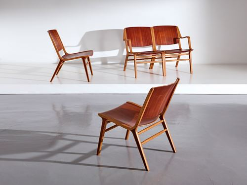 4 schakelbare stoelen, model AX
