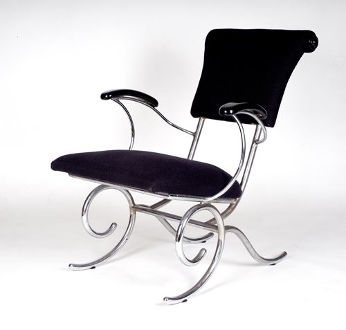 Easy Chair with tubular steel frame and armrests 1935-1936.