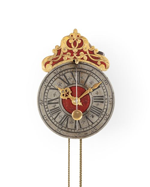 WALL CLOCK WITH COW-TAIL PENDULUM