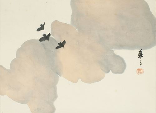 Morning clouds with crows