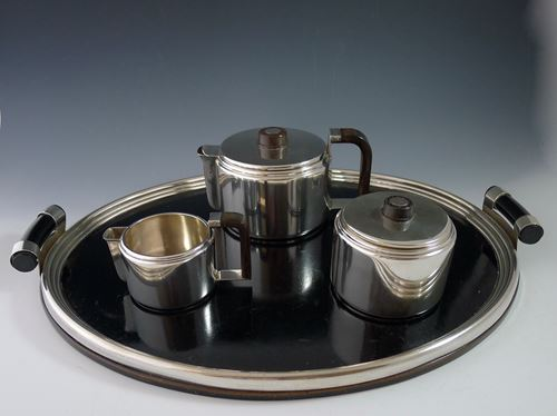 Three-piece silver tea set