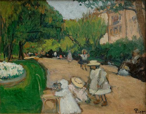 Les enfants au Parc Monceau (Paris)