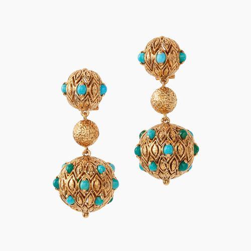 Van Cleef & Arpels turquoise earrings 1967