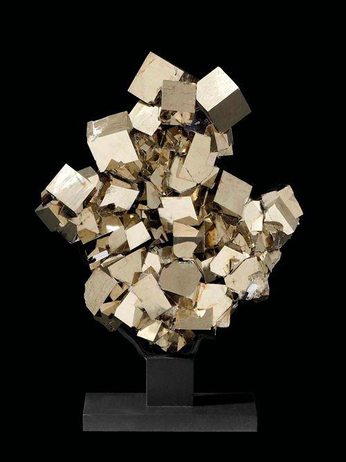 Pyrite custom made on metal base